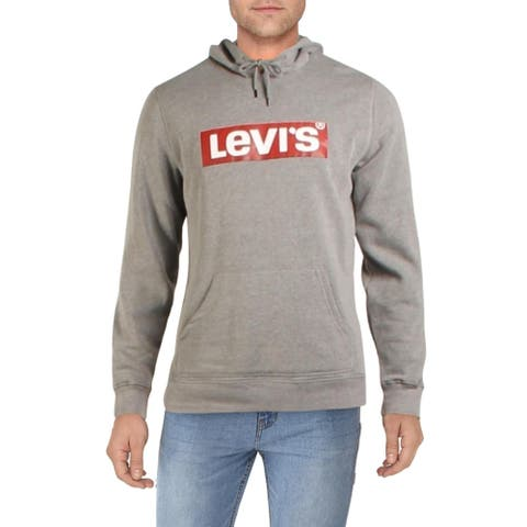 Levi's Mens Burndlen Hooded Sweatshirt Fleece Logo