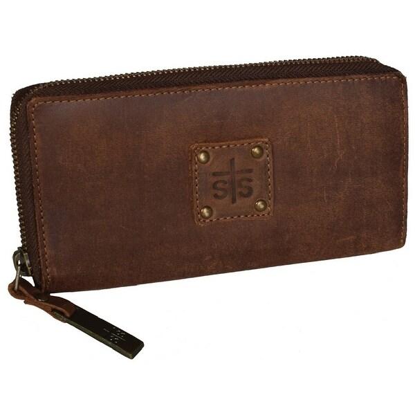 StS Ranchwear Western Wallet Women Baroness Bi-fold Zip Brown - One size