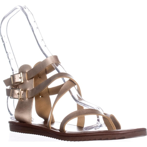 Seven Dials Sync Ankle Strap Sandals, Gold Metallic