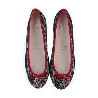 Bailarinas EMMA PZTT Beige/Rosso Black Lace Ballerina Shoes