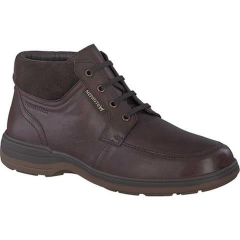 Mephisto Men's Darwin Moc Toe Boot Chestnut/Dark Brown Suede/Leather