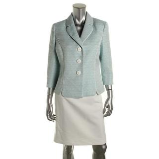 Le Suit Womens Petites The Hamptons 2PC Metallic Skirt Suit