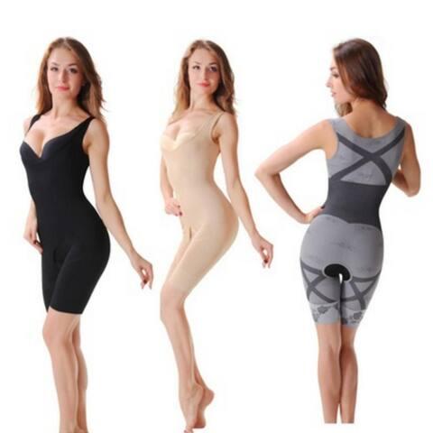 Fashion Women Slimming Bamboo Underbust Shaper Corset Body Bodysuit Shapewear