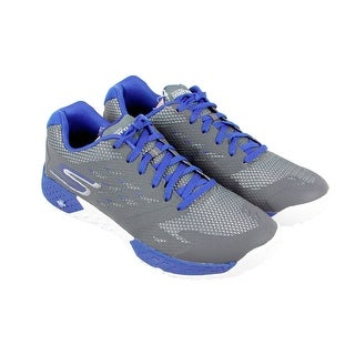 Skechers Endurance Mens Gray Synthetic Athletic Lace Up Running Shoes