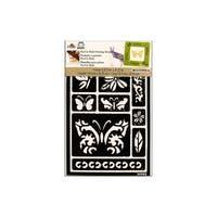 Plaid Folkart Stencil Peel&Stick Butterfly
