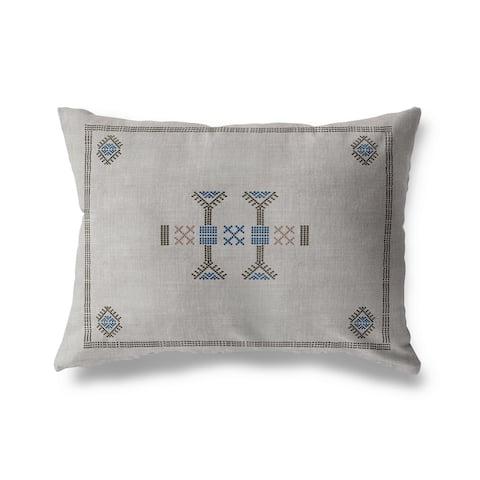 MOROCCAN KILIM GREY Indoor Outdoor Pillow By Becky Bailey