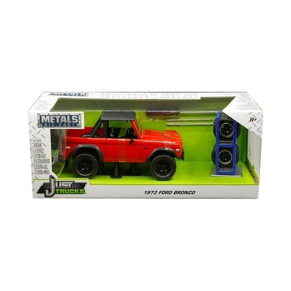 Shop 1973 Ford Bronco Red with Matt Black Top and Extra ...