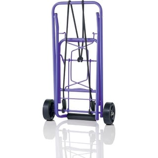 "Conair TS36PUR Conair Travel smart TS36 Folding Luggage Cart - 80 lb Capacity - 3.75"" Caster Size - Steel - Purple"