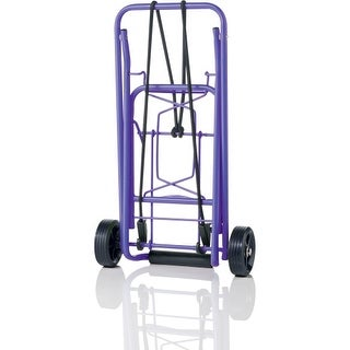 """Conair TS36PUR Conair Travel smart TS36 Folding Luggage Cart - 80 lb Capacity - 3.75"" Caster Size - Steel - Purple"""