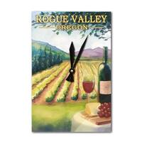 Rogue Valley, Oregon - Wine Country - LP Artwork (Acrylic Wall Clock) - acrylic wall clock