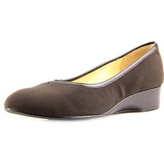 Taryn Rose Felicity Women Round Toe Canvas Brown Flats