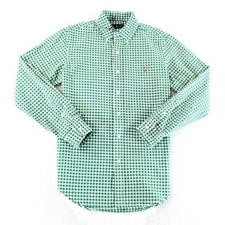 Polo Ralph Lauren NEW Green Men Small S Check Oxford Button Down Shirt