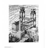 ''Waterfall'' by M.C. Escher Fantasy Art Print (25.625 x 21.75 in.)