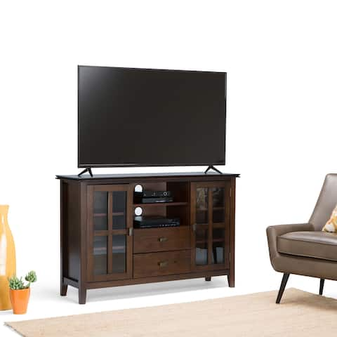 WYNDENHALL Stratford SOLID WOOD 53 inch Wide Contemporary TV Media Stand For TVs up to 55 inches - 53 inch wide - 53 inch wide