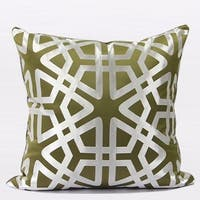 """G Home Collection Luxury Green Geometry Pattern Pillow 20""""X20"""""""