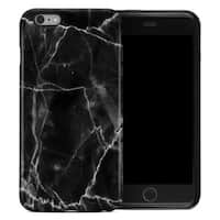 Marble Collection  Apple iPhone 6 Plus Hybrid Case - Black Marble
