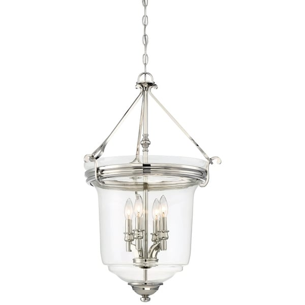 Minka Lavery 3298-613 4 Light Pendant from the Audrey's Point Collection - Polished Nickel