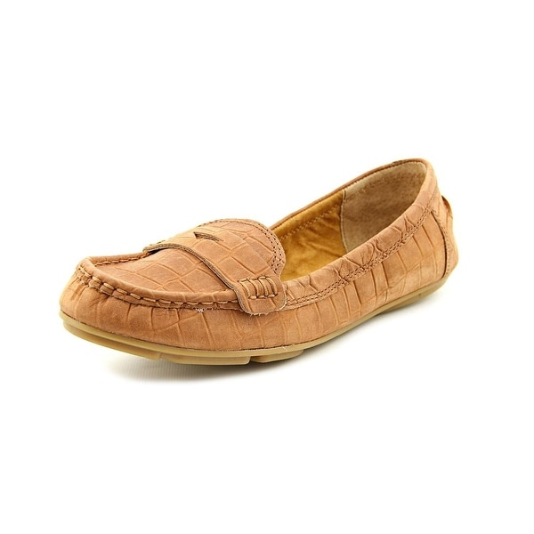 Lucky Brand Feverton Women  Round Toe Leather Tan Loafer