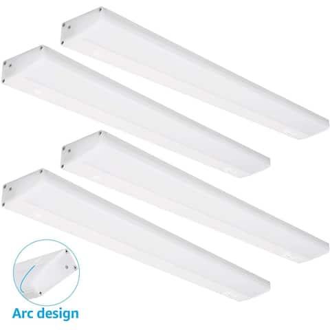 4 Pcs 8W LED Under Cabinet Lighting, 3000K Warm White - 16 Inch