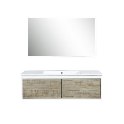 Lexora Scopi 48 inch Single Vanity with 43 inch frameless Mirror