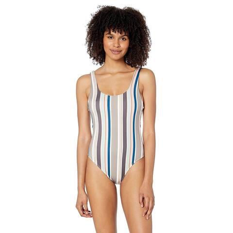RVCA Women's Off Shore Onepiece Swimsuit, Creme, M, Creme, Size Medium