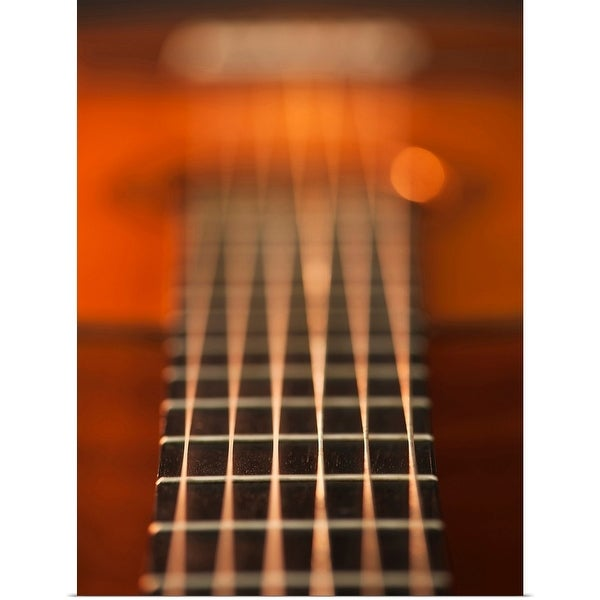 """Close up of strings of acoustic guitar"" Poster Print"
