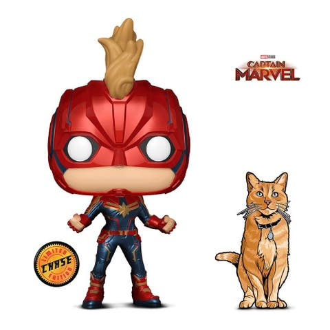 Funko Pop Marvel Captain Marvel Masked Chase and Figpin Mini Captain Marvel Goose The Cat