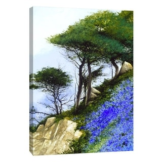 "PTM Images 9-108346  PTM Canvas Collection 10"" x 8"" - ""Blue Slope"" Giclee Mountains Art Print on Canvas"
