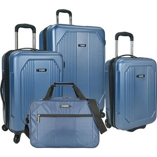 US Traveler Bloomington 4-Piece Spinner Luggage Set Blue - US One Size (Size None)