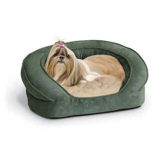 """K&H Pet Products Deluxe Ortho Bolster Sleeper Pet Bed Extra Large Eggplant 50"""" x 40"""" x 10"""""""