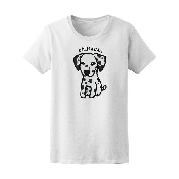 Shop Dalmatian Dog Puppy Drawing Tee Women s -Image by Shutterstock - Free  Shipping On Orders Over  45 - Overstock - 20897922 fce0a98871