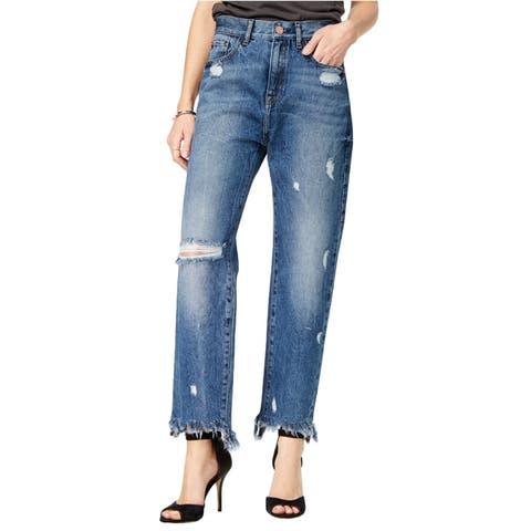 M1858 Womens Frida Ripped Wide Leg Jeans