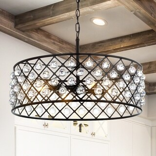 """Link to Gabrielle 23"""" Crystal/Metal LED Pendant, Oil-Rubbed Bronze by JONATHAN  Y Similar Items in Pendant Lights"""