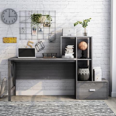 Furniture of America Jessica Modern 70-inch Desk with USB Ports