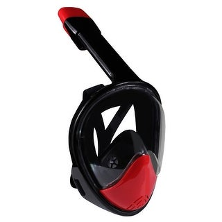 Ivation Full Face Snorkel Mask (Red)