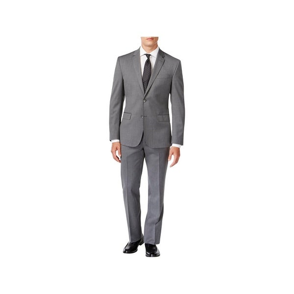 Kenneth Cole New York Mens Two-Button Suit Wool 2PC