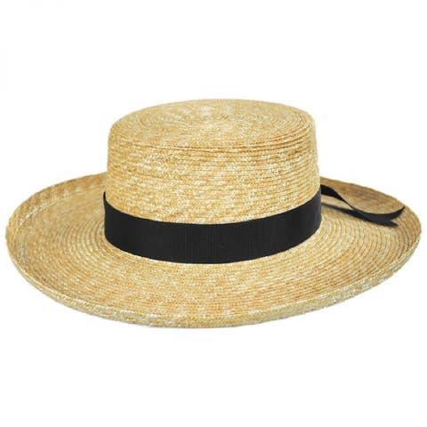 Lack of Color Womens Violette Boater Straw Hat Natural