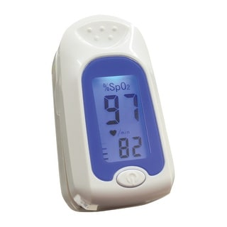 Jobar Pulse Oximeter with Large LCD Easy to Read Display, Fingertip Blood Oxygen Meter - White
