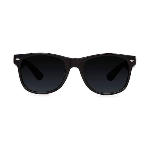 Black Classic Vagabond Style Sunglasses (Includes Soft Case) - One size