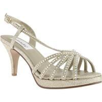 Dyeables Women's Alyssa Platform Gold Glitter
