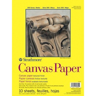 Strathmore 300 Series White Canvas Paper Pad, 9 x 12 Inches