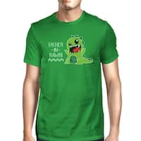 Father-In-Rawr Men's Green Short Sleeve Graphic Design Top For Dad