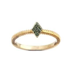 Brand New Round Brilliant Cut Green Diamond Stylist Ring