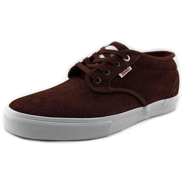 Vans Chima Estate Pro Men Round Toe Canvas Burgundy Sneakers