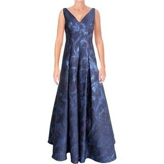 Aidan Mattox Womens Evening Dress Textured Metallic