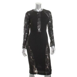 Nicole Bakti Womens Evening Dress Sheer Embroidered - 2