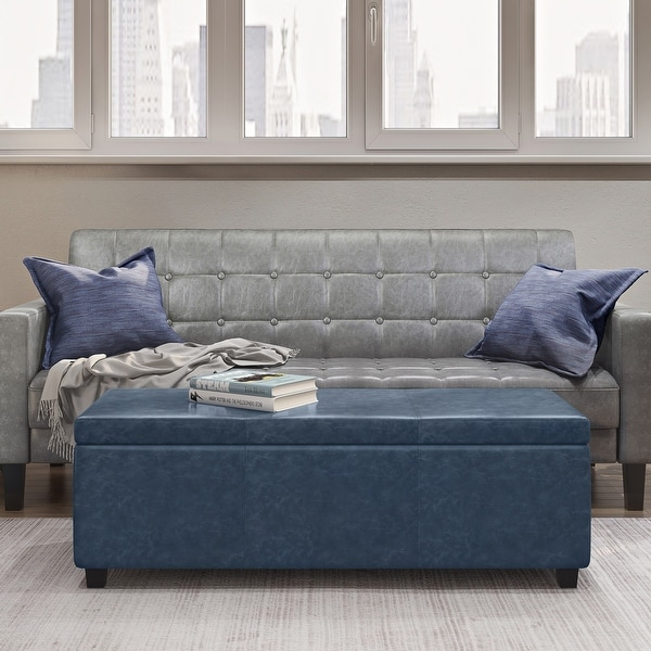 WYNDENHALL Franklin 48 inch Wide Contemporary Rectangle Storage Ottoman. Opens flyout.