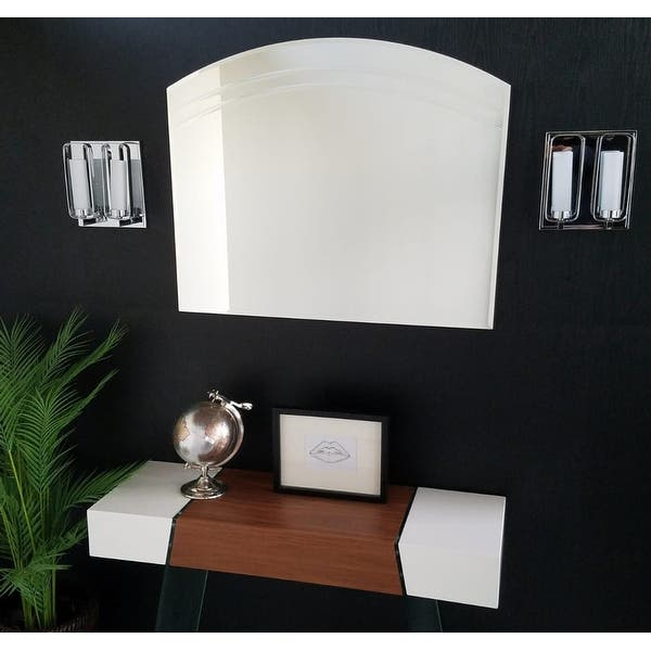 Angel Large Frameless Wall Mirror Clear 31 5hx39 5wx 5d Overstock 4765207