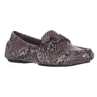 Donald J Pliner Viky Casual Loafer Flats - Taupe Python