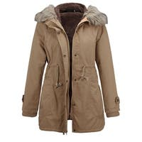 Winter new style Fur collar hooded cotton padded jacket Female slim fit